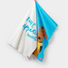 Joules Thea Blue Airedale Tea Towels