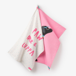 Joules Thea True Pink Labrador Tea Towels