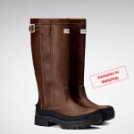 Hunter Balmoral Field Wax Tan Boots Exclusive