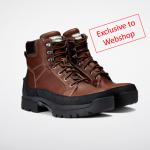 Hunter Balmoral Wax Tan Lace Boots Exclusive
