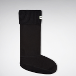 Hunter Field Rib Cuff Black Boot Sock