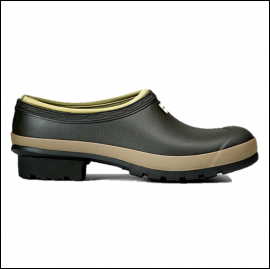 Hunter Men's Dark Olive-Clay Gardener Clogs 1