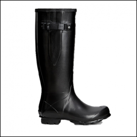 Hunter Norris Black-Orange Side Adjustable Field Boot 1