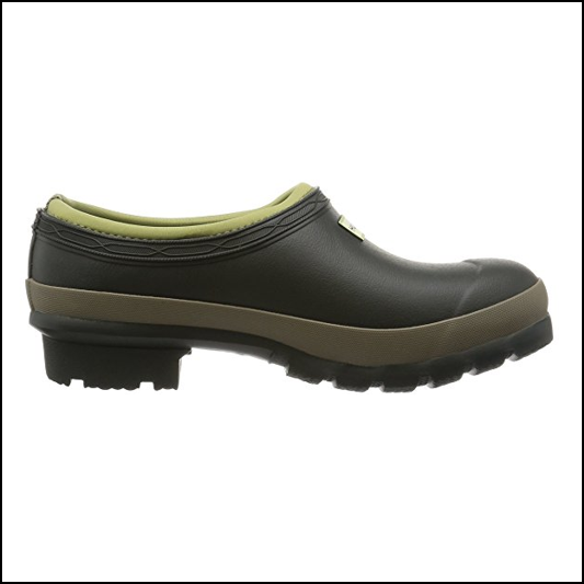 Hunter Women's Dark Olive-Clay Gardening Clogs 1