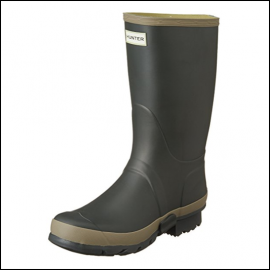 Hunter Women's Dark Olive-Clay Wellington Boots 1