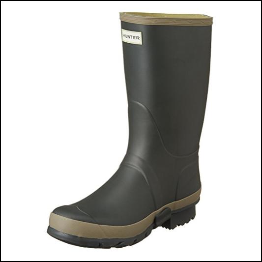 Hunter Women's Dark Olive-Clay Wellington Boots 1