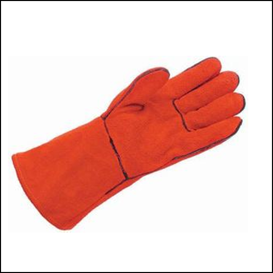 Hurrican Fleece Lined 14inch Chrome Leather Gauntlet