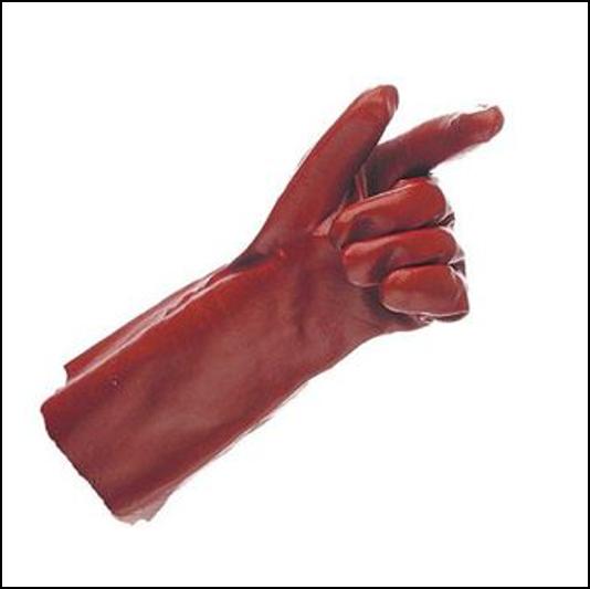 Hurricane Lightweight 14inch Red PVC Gauntlet