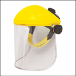 JSP Yellow Browguard with 20cm Unbound Acetate Visor 1