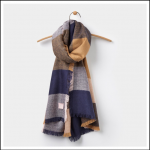 Joules Berkley Oversized Camel Check Scarf