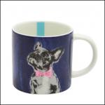 Joules Bowtie French Bulldog Porcelain Cuppa Mug 1
