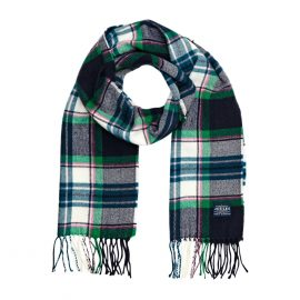 Joules Bracken French Navy Check Scarf 1