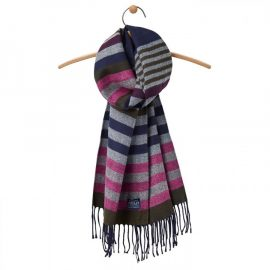 Joules Bracken French Navy Stripe Scarf 1