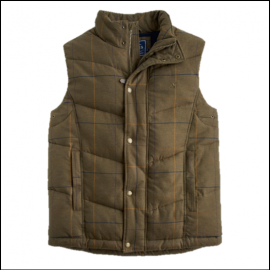 Joules Braden Tweed Check Gilet 1