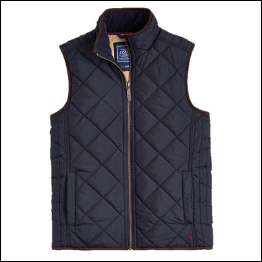 Joules Bradwell Marine Navy Quilted Gilet 1