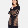 Joules Brianne Navy-Camel Knitted Tie Sleeve Tunic 2