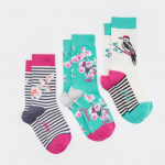 Joules Brilliant Bamboo 3pk Emerald Socks
