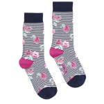Joules Brilliant Bamboo Floral Stripe Socks