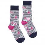 Joules Brilliant Bamboo Floral Stripe Socks