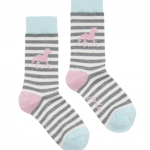Joules Brilliant Bamboo Grey Stripe Horse Socks