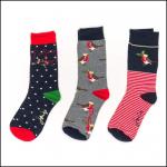 Joules Christmas Cracking Women's Robin Socks 3pk Gift Set