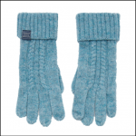 Joules Clark Knitted Soft Teal Gloves