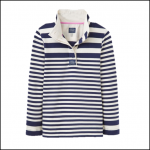 Joules Classic Cowdray Humbug Stripe French Navy Sweatshirt 1