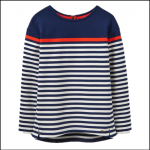 Joules Clemence French Navy Stripe Printed Crew Sweatshirt 1