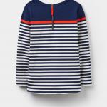 Joules Clemence French Navy Stripe Printed Crew Sweatshirt 2