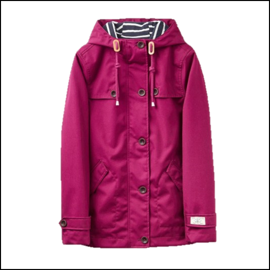 Joules Coast Bright Berry Waterproof Jacket