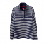 Joules Cowdray French Navy Stripe Funnel Neck Sweatshirt
