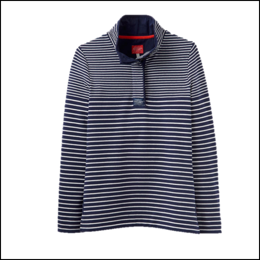 Joules Cowdray French Navy Stripe Sweatshirt 1
