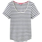 Joules Daily Cream & Navy Stripe T Shirt 1
