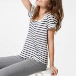 Joules Daily Cream & Navy Stripe T Shirt 2