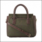 Joules Day to Day Green Check Tweed Shoulder Bag