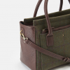 Joules Day to Day Green Check Tweed Shoulder Bag 2