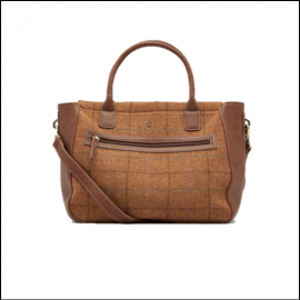 Joules Day to Day Tan Check Tweed Shoulder Bag 1