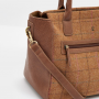Joules Day to Day Tan Check Tweed Shoulder Bag 2