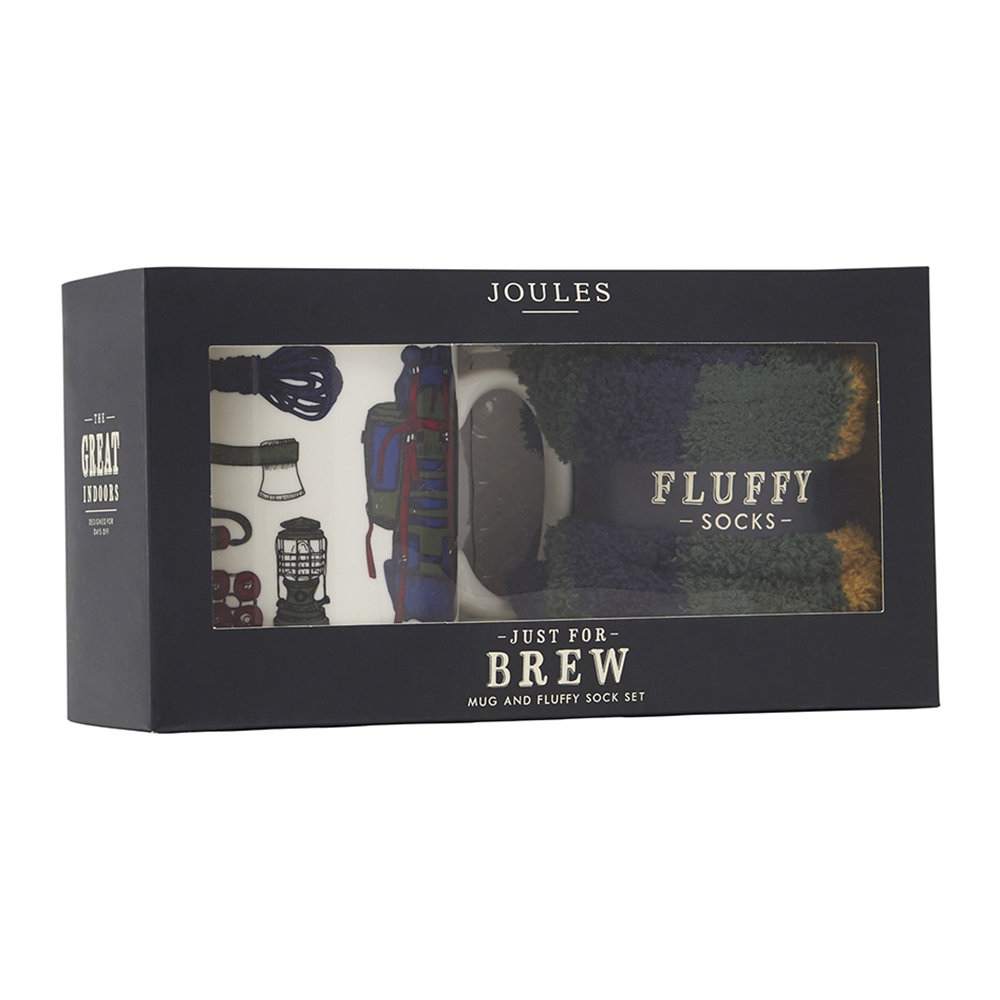 Joules Dirty Weekend Mug & Fluffy Sock Set 2