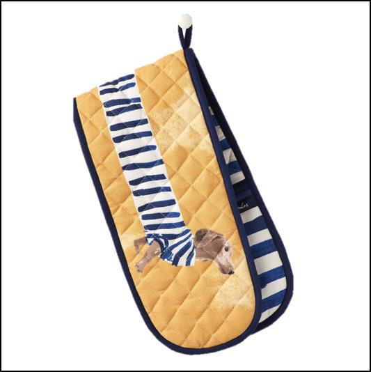Joules Dorrit Breton Daschund Double Oven Gloves 1