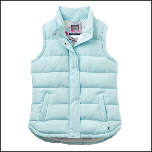 Joules Eastleigh Cool Blue Padded Gilet 1