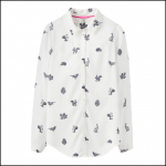 Joules Elvina Cream Etched Animals Printed Blouse