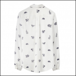 Joules Elvina Cream Etched Animals Printed Blouse 2