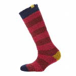 Joules Fabulously Fluffy Dark Ruby Socks