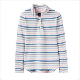 Joules Fairdale Blue & Pink Stripe Sweatshirt 1