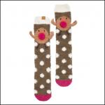 Joules Festive Fluffy Robin Socks 1