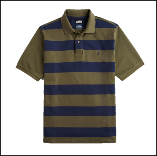 Joules Filbert Classic Fit Dark Olive Stripe Polo Shirt 1