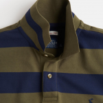 Joules Filbert Classic Fit Dark Olive Stripe Polo Shirt 2