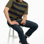 Joules Filbert Classic Fit Dark Olive Stripe Polo Shirt 3