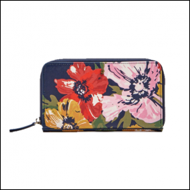 Joules French Navy Posy Canvas Purse 1